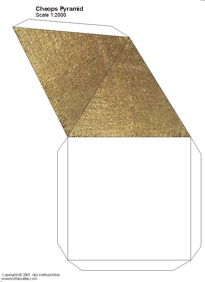 Paper Square Pyramids