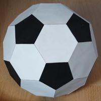 black and white football (truncated icosahedron)
