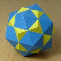 Paper model compound of dodecahedron and icosahedron