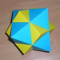 Paper Model Compound of Cube and Octahedron
