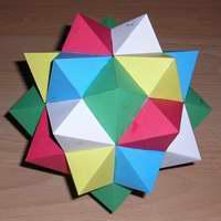 Paper Model Compound of Five Octahedra