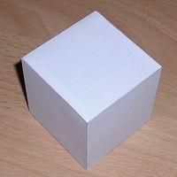 Papercraft imprimible y armanle de un cubo. Manualidades a Raudales.