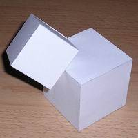 Paper model cubic shape 6