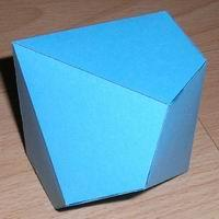 Paper model decahedron