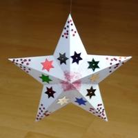 decorated pentagonal star pyramid