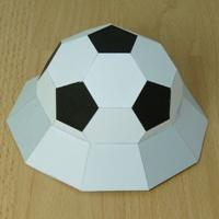Paper model elevated half truncated icosahedron