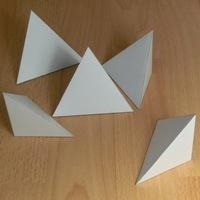 tetrahedron and four other triangular pyramids