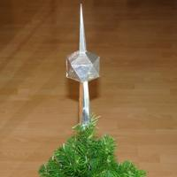 icosahedron Christmas tree topper