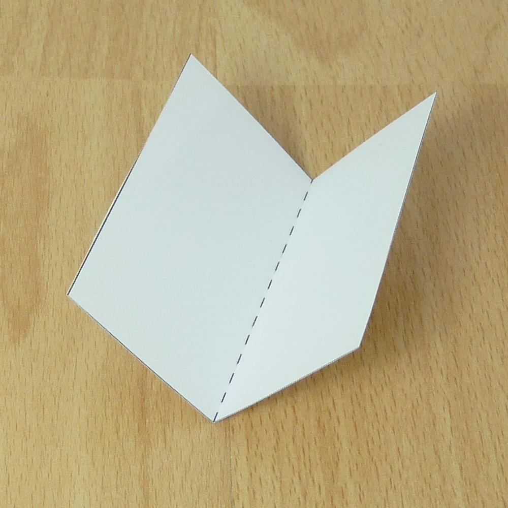 Картон, открытка сгиб