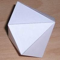 Paper model isosceles dodecahedron