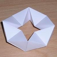 Paper model octagonal kaleidocycle