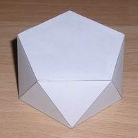Paper model pentagonal antiprism