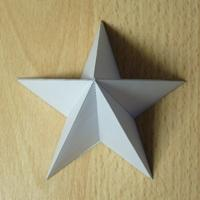 Paper model Pentagrammic pyramid (high)