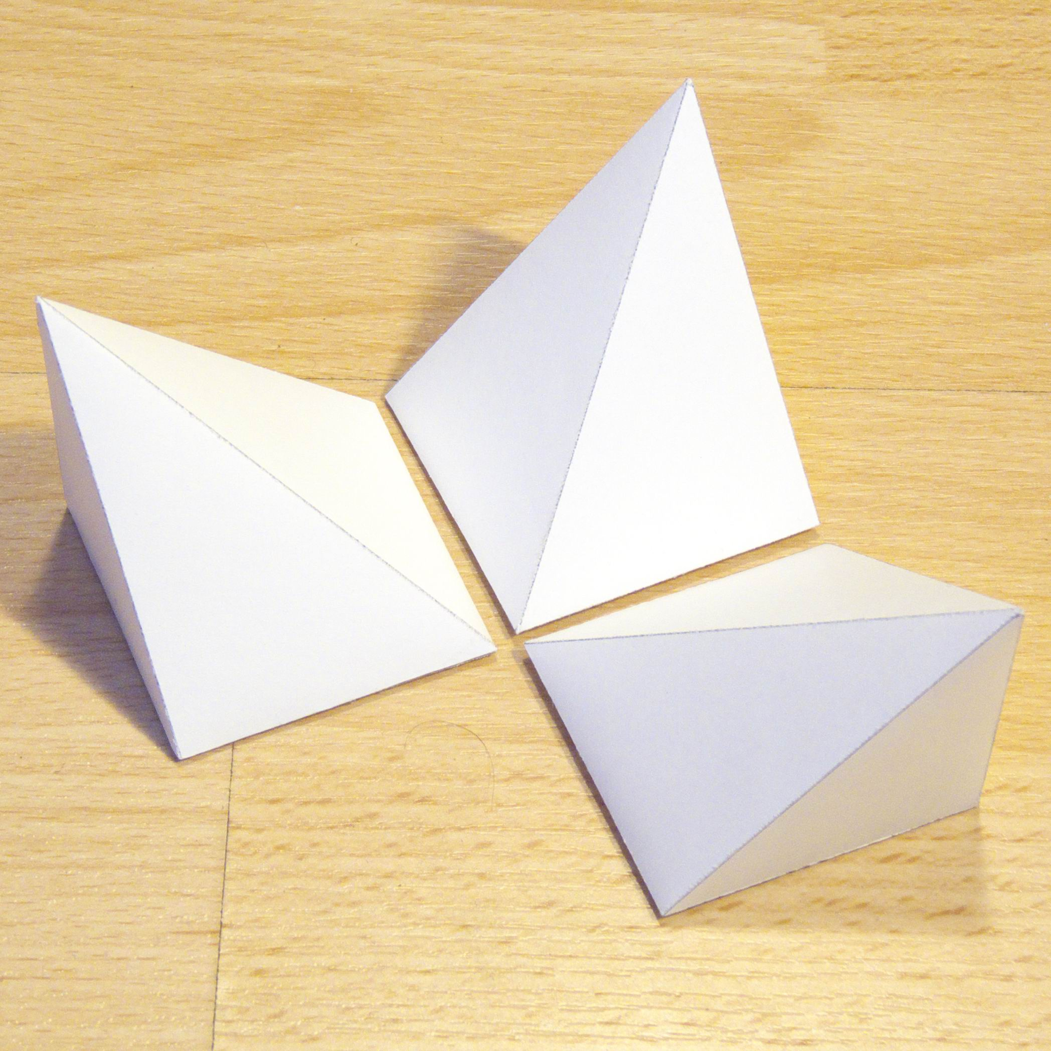 Paper Three Pyramids That Form A Cube