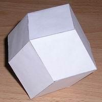 Paper model rhombic dodecahedron