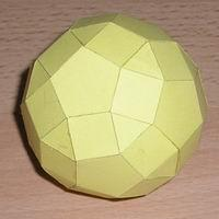 Paper Model Rhombicosidodecahedron