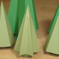 small hexagrammic Christmas tree
