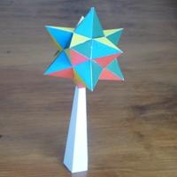 small stellated dodecahedron on pedestal