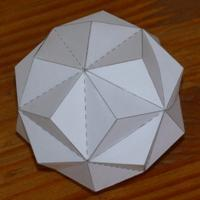 Paper model small triambic icosahedron