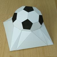 Paper model square based elevated half truncated icosahedron
