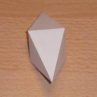 Paper model square dipyramid