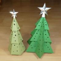 top star paper Christmas tree