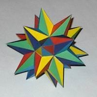 Paper model seventh stellation of the icosahedron