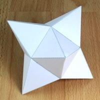 tetrakis hexahedron (Height of the six pyramids equal to the height of the cube )