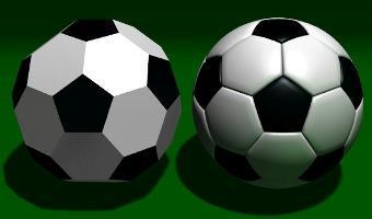 isoshaedron à trompettes et football