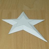 paper model truncated pentagonal star pyramid (irragular)