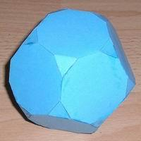 Paper model truncated dodecahedron