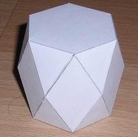 Paper model truncated hexagonal prism