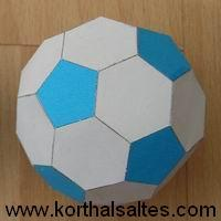 Paper model truncated icosahedron (football)