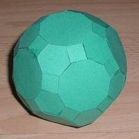 Paper Model Truncated Icosidodecahedron