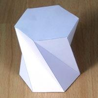 twisted hexagonal prism (120 degrees)