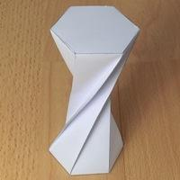 high twisted hexagonal prism (180 degrees)