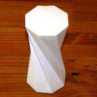 Paper model twisted octagonal prism