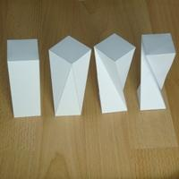 twisted rectangular prisms